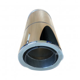 Adjustable Pipe Twin to Single Wall 500-850mm